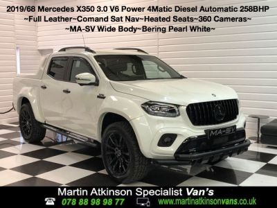 Mercedes-benz X Class 3.0 350d V6 MA-SV Widebody 4Matic Power D/Cab Pickup 7G-Tronic plus Pick Up Diesel Bering White at Martin Atkinson Vans Scunthorpe
