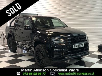 Volkswagen Amarok GTS Styling Pack Pick Up Highline 3.0 V6 TDI 258PS BMT 4M Auto Pick Up Diesel Deep Black at Martin Atkinson Vans Scunthorpe