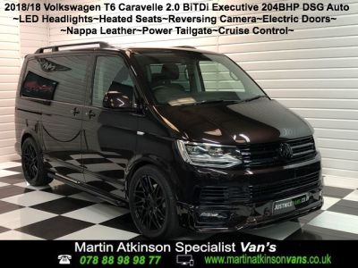 Volkswagen Caravelle 2.0 BiTDi 204ps Executive SWB DSG Minibus Diesel Blackberry at Martin Atkinson Vans Scunthorpe