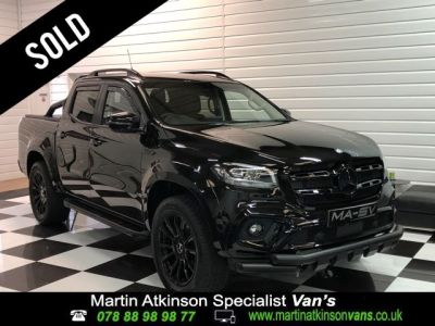 Mercedes-benz X Class X350 3.0 V6 Power 4Matic Automatic Pick Up Diesel Kabana Black Metallic at Martin Atkinson Vans Scunthorpe